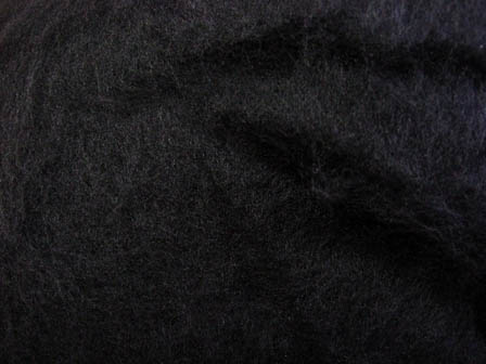 Merino Batt - SuperFine, Black