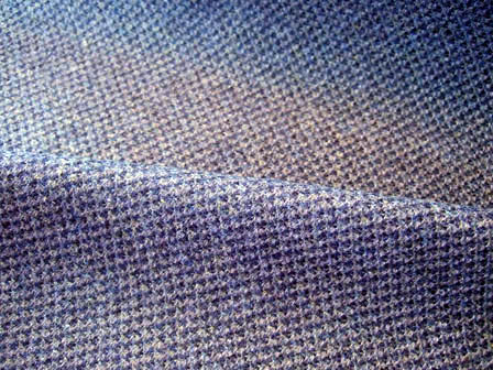 Blue-Gray Textured Wool Fabric