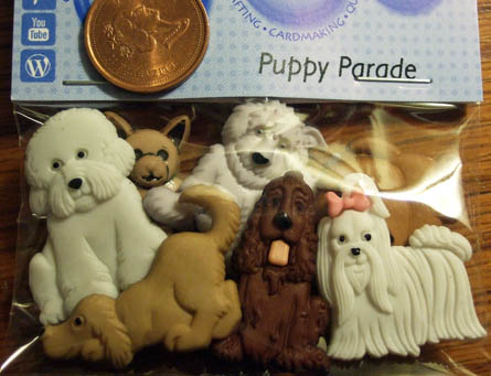 Puppy Parade Buttons