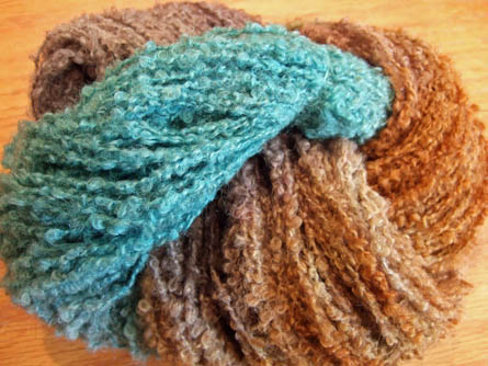 NZ Boucle - Toffee/Teal