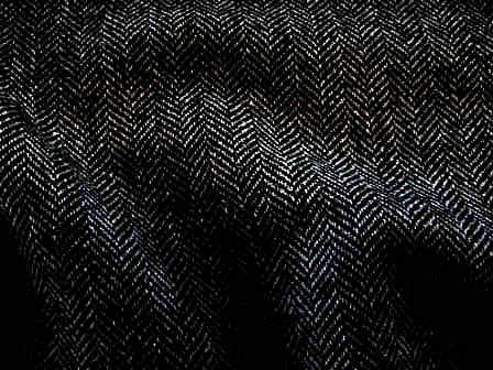 Black/Charcoal Herringbone