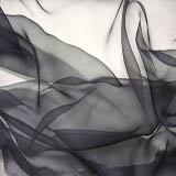 Silk Gauze Fabric- Black