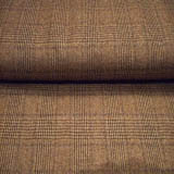 Brown Plaid Wool Fabric