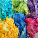 Silk Noil Dyed