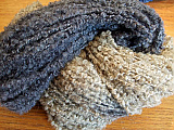 NZ Boucle - Blue/Light Brown