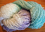 NZ Boucle - Pale Violet/White/Turquoise