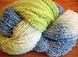 NZ Boucle - Lime/Blue/White